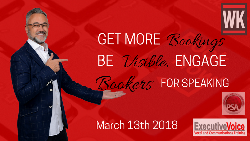 Get more bookings, be visible engage bookers for speaking