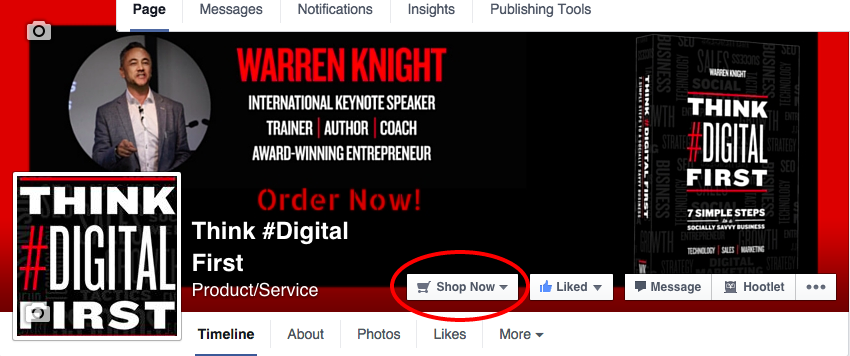 Facebook CTA Business Page