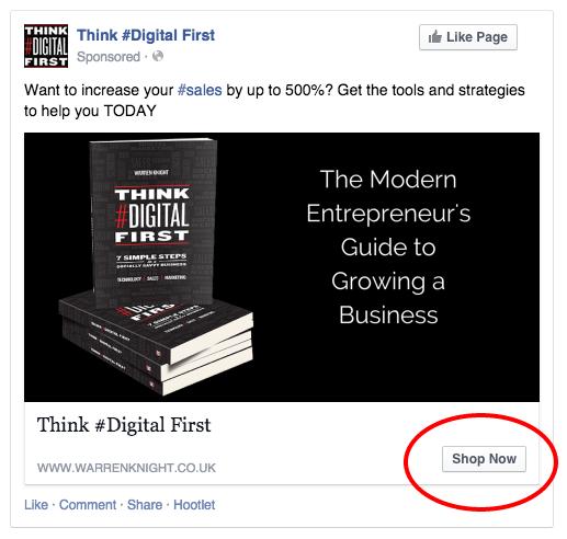 Facebook CTA Advertisement