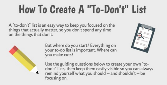 How to Create a  To Don t  List  A Productivity Trick for Focusing On What Really Matters  Infographic