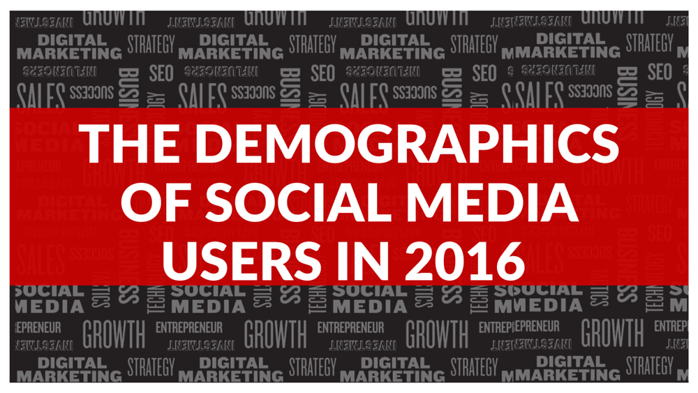 The Demographics of Social Media Users in 2016