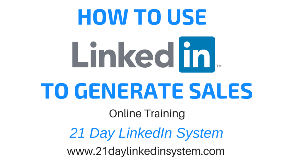 21Day Linkedin System Generate sales