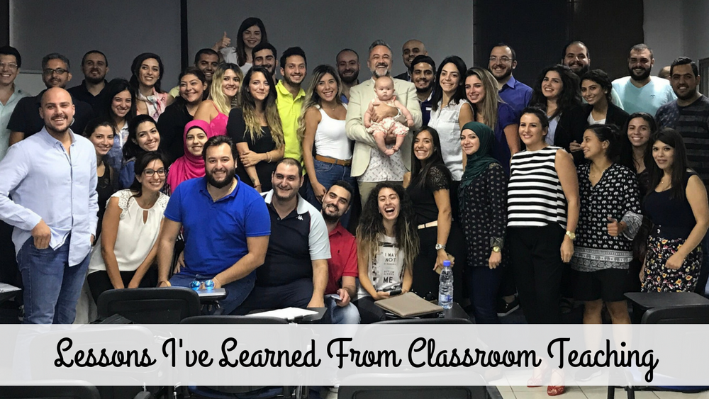 Lessons I've Learned From Classroom Teaching