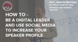 Digital Leadership keynote PSA London - June 2019