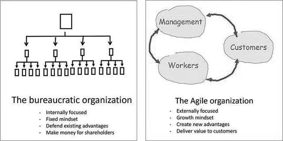 Bureaucratic Organisation vs Agile Organisation