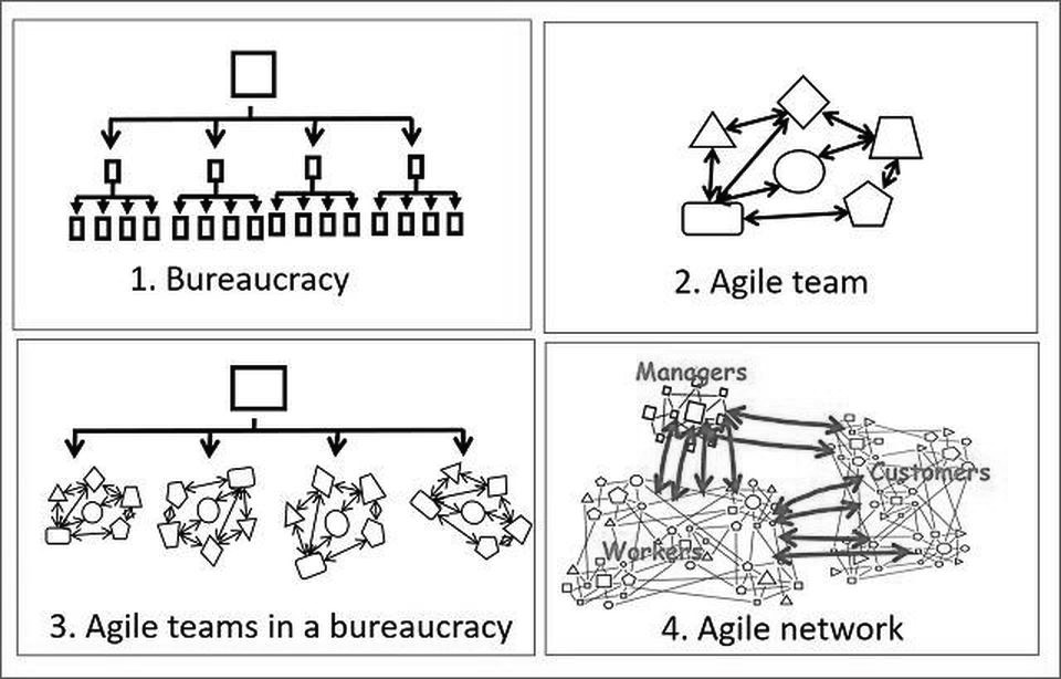 Bureaucratic Network vs Agile Network