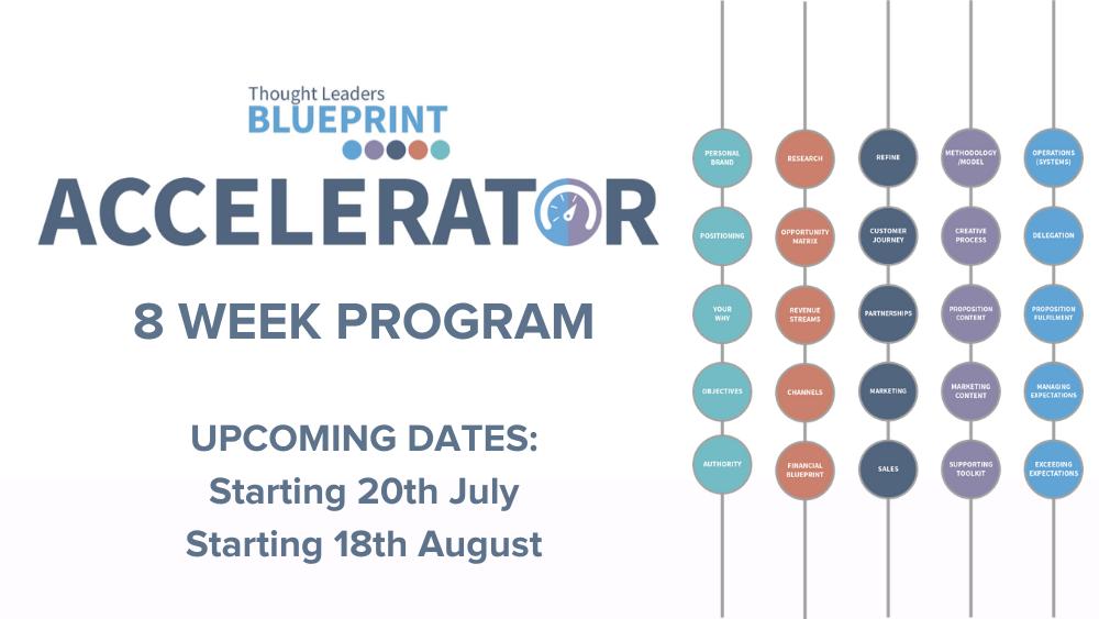 Thought Leadership Blueprint Accelerator Programme